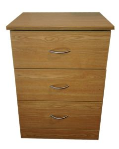 04-50-2001 Refurbished 3-Drawer Bedside Cabinet with Castors