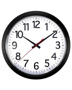 """04-50-7008 Realspace® Quartz Wall Clock - 14"""" Black"""