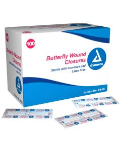 "Butterfly Wound Closure Sterile - 3/8"" x 1 13/16"""