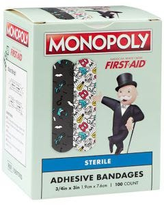 Designer and Character Adhesive Bandages, Monopoly Board Game Characters