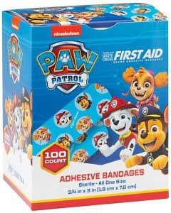 Designer and Character Adhesive Bandages, Paw Patrol