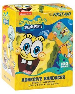 Designer and Character Adhesive Bandages, Spongebob Squarepants