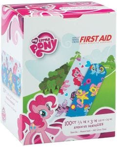 Designer and Character Adhesive Bandages, My Little Pony