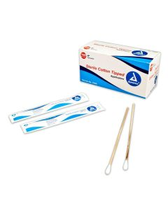 "Cotton Tipped Applicator 6"" Sterile 2's - 100 Pouches/Box"