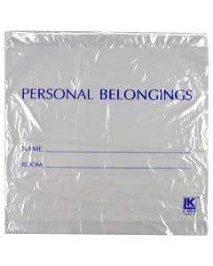 Patient Belongings Bag Drawstring, Clear