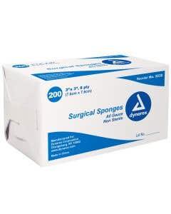 "Surgical Gauze Sponge 3"" x3"" 8-Ply"