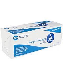 Surgical Gauze Sponges, 3 x 3 12-Ply, Non-Sterile