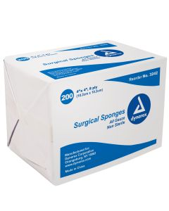 """Surgical Gauze Sponge - 4"""" x 4"""" 8-Ply Non-Sterile"""