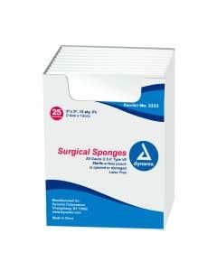 "Surgical Gauze Sponge Sterile 2's - 3"" x 3"" 12 Ply"