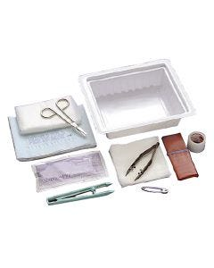 Dressing Change Tray with ABD Pad and Instruments