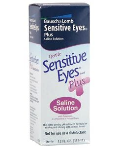 Sensitive Eyes Contact Saline Solution 12 Oz. Bottles