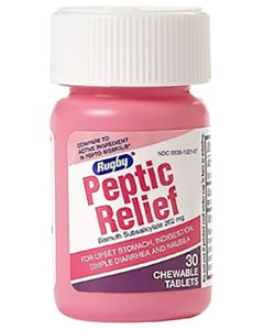 Peptic Relief Chewable Tablets, 30/Package