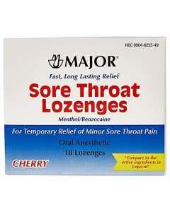 Sore Throat Lozenges Cherry Flavor, 18/Package