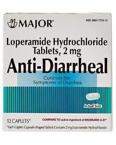 Loperamide HCl 2 mg Caplets, 12/Box