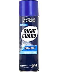 Right Guard Aerosol Deordorant Spray, Sport Powder Dry 6 Oz. ORMD