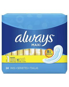 Always® Regular Maxi Pad Sanitary Napkins 288