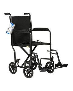 """DynaRide Transport Wheelchair with Swing-Away Foot Rest and Fixed Full Arm - 17"""" Seat"""