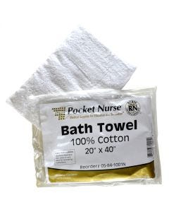 "Pocket Nurse® Bath Towel Each Natural 20"" x 40"" *Non-Returnable"