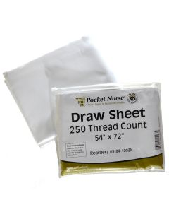 "Pocket Nurse® Draw Sheet 54""x 72""  *Non-Returnable"