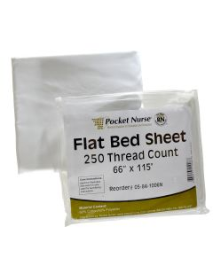 "Pocket Nurse® Flat Bed Sheet 66""x 115"" *Non-Returnable"