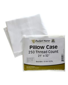 "Pocket Nurse® Pillow Case White 21"" x 32"" *Non-Returnable"