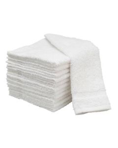 05-84-3002 Wash Cloth 12x12 Inch White Cotton
