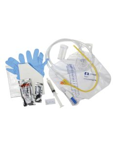 05-87-3716 Dover™ Closed System, Latex Foley Tray with Pre-connected Catheter - 16 Fr