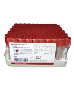 BD™ Vacutainer® Serum™ Tubes - 4.0 mL Red BD Hemogard™ Closure