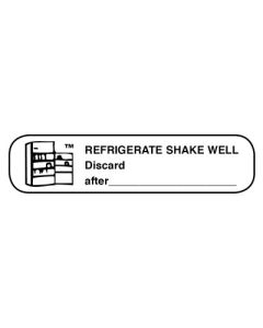 Pharmacy Instruction Label - Refrigerate/Shake Well