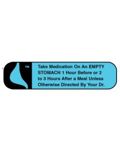 Pharmacy Instruction Label - Take Med on an Empty Stomach