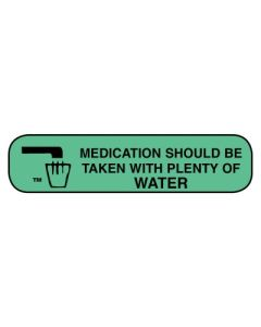 Pharmacy Instruction Label - Should Be Taken With Water Pharmacy