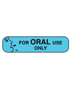 Pharmacy Instruction Label - For Oral Use Only Instructional