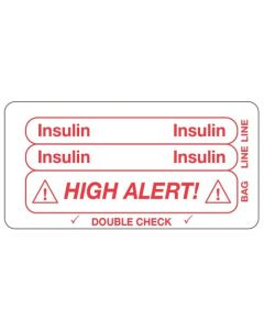 Insulin/High Alert Piggyback Label