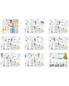 Pocket Nurse® Complete Pediatric Crash Cart Drawer 1-9 Refill Kits