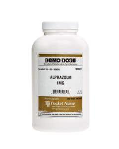 06-93-0065 Demo Dose® ALPRAZolm (Xanx) 1 mg - 1000 Pills/Jar