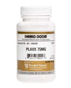 06-93-0092 Demo Dose® Plavx 75 mg - 100 Pills/Bottle