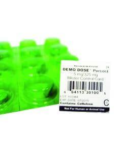 06-93-0100 Demo Dose®Acetaminophn 325mg, OxyCODON, 5mg (Percoct) blister control card #24