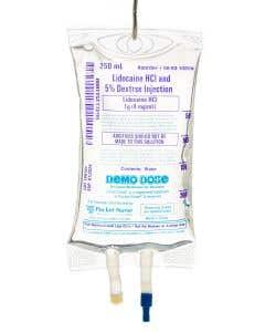 06-93-1080-250ML Demo Dose® Lidocain HCl D5 Premix 250 mL 1 g