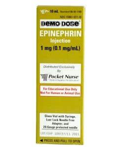 06-93-1100 Demo Dose® EPINEPHrin Adrenaln 10ml syringe