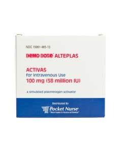 Demo Dose® Activas Alteplas 100 mL 100 mg/100 mL