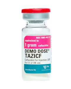 Demo Dose® Tazicf 1g/10mL yellow powder vial 10mL