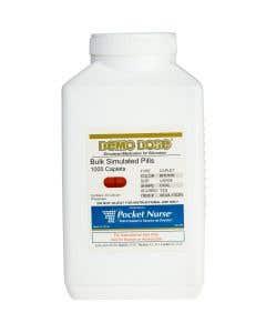 Demo Dose® Caplet Brown Large Oval Scored - 1000 Pills/Jar