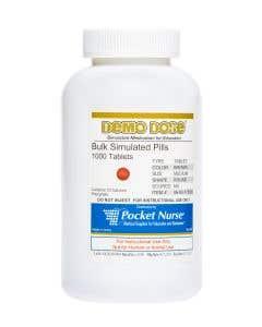 Demo Dose® Tablet Brown Medium Round - 1000 Pills/Jar