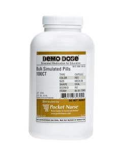 Demo Dose® Capsule Gel Red Medium Oval - 1000 Pills/Jar