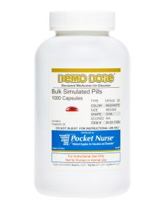 Demo Dose® Capsule Gel Red/White Med Oval - 1000 Pills/Jar