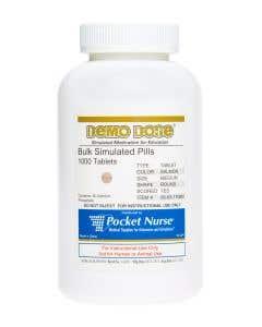 Demo Dose® Tablet Salmon Medium Round Scored- 1000 Pills/Jar
