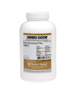 Demo Dose® Tablet Yellow Medium Round- 1000 Pills/Jar