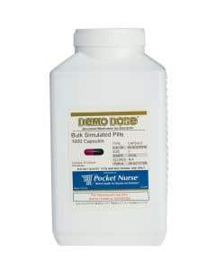 Demo Dose® Capsule Black/Pink Medium Oval- 1000 Pills/Jar