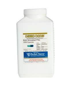 Demo Dose® Capsule Lt Blue/Dk Blue Med Oval- 1000 Pills/Jar