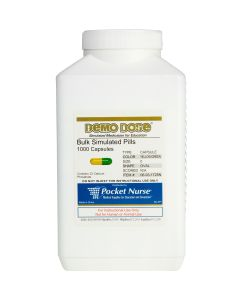 06-93-1725 Demo Dose® Capsule Yellow/Green Medium Oval- 1000 Pills/Jar